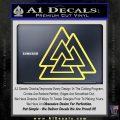 Celtic Warrior Knot Rune Decal Sticker Yellow Vinyl 120x120