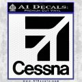 Cessna Logo Decal Sticker SQ Black Vinyl Logo Emblem 120x120
