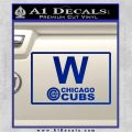 Chicago Cubs W Flag Decal Sticker Blue Vinyl 120x120