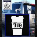 Coffee 1 Up Decal Sticker Super Mario White Vinyl Emblem 120x120