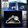 Colorado Rockies New Decal Sticker White Vinyl Emblem 120x120