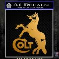 Colt Logo Stallion Horse Decal Sticker Metallic Gold Vinyl 120x120
