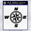 Compass Decal Sticker Cardinal Points NSEW Black Vinyl Logo Emblem 120x120