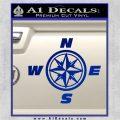 Compass Decal Sticker Cardinal Points NSEW Blue Vinyl 120x120