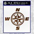 Compass Decal Sticker Cardinal Points NSEW Brown Vinyl 120x120