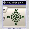 Compass Decal Sticker Cardinal Points NSEW Dark Green Vinyl 120x120