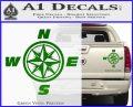 Compass Decal Sticker Cardinal Points NSEW Green Vinyl 120x97