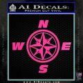 Compass Decal Sticker Cardinal Points NSEW Hot Pink Vinyl 120x120