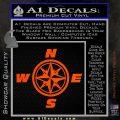 Compass Decal Sticker Cardinal Points NSEW Orange Vinyl Emblem 120x120