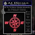 Compass Decal Sticker Cardinal Points NSEW Pink Vinyl Emblem 120x120