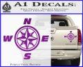 Compass Decal Sticker Cardinal Points NSEW Purple Vinyl 120x97