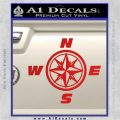 Compass Decal Sticker Cardinal Points NSEW Red Vinyl 120x120