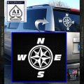 Compass Decal Sticker Cardinal Points NSEW White Vinyl Emblem 120x120