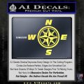 Compass Decal Sticker Cardinal Points NSEW Yellow Vinyl 120x120