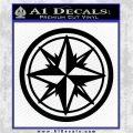 Compass Only Decal Sticker Cardinal Points Black Vinyl Logo Emblem 120x120