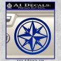 Compass Only Decal Sticker Cardinal Points Blue Vinyl 120x120