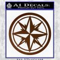 Compass Only Decal Sticker Cardinal Points Brown Vinyl 120x120