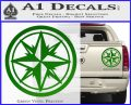 Compass Only Decal Sticker Cardinal Points Green Vinyl 120x97