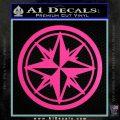 Compass Only Decal Sticker Cardinal Points Hot Pink Vinyl 120x120