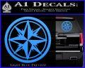 Compass Only Decal Sticker Cardinal Points Light Blue Vinyl 120x97
