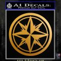 Compass Only Decal Sticker Cardinal Points Metallic Gold Vinyl 120x120