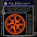 Compass Only Decal Sticker Cardinal Points Orange Vinyl Emblem 120x120