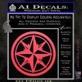 Compass Only Decal Sticker Cardinal Points Pink Vinyl Emblem 120x120