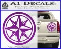 Compass Only Decal Sticker Cardinal Points Purple Vinyl 120x97