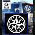 Compass Only Decal Sticker Cardinal Points White Vinyl Emblem 120x120