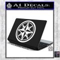 Compass Only Decal Sticker Cardinal Points White Vinyl Laptop 120x120