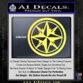 Compass Only Decal Sticker Cardinal Points Yellow Vinyl 120x120