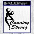 Country Strong Decal Sticker Browning Black Vinyl Logo Emblem 120x120