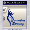 Country Strong Decal Sticker Browning Blue Vinyl 120x120
