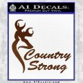 Country Strong Decal Sticker Browning Brown Vinyl 120x120