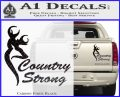 Country Strong Decal Sticker Browning Carbon Fiber Black 120x97
