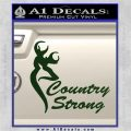 Country Strong Decal Sticker Browning Dark Green Vinyl 120x120