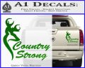 Country Strong Decal Sticker Browning Green Vinyl 120x97