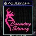 Country Strong Decal Sticker Browning Hot Pink Vinyl 120x120