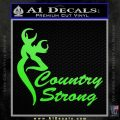 Country Strong Decal Sticker Browning Lime Green Vinyl 120x120