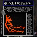 Country Strong Decal Sticker Browning Orange Vinyl Emblem 120x120