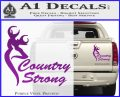 Country Strong Decal Sticker Browning Purple Vinyl 120x97