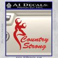 Country Strong Decal Sticker Browning Red Vinyl 120x120