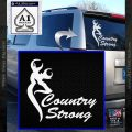 Country Strong Decal Sticker Browning White Vinyl Emblem 120x120