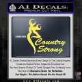 Country Strong Decal Sticker Browning Yellow Vinyl 120x120