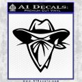 Cowboy Outlaw Decal Sticker Black Vinyl Logo Emblem 120x120