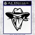 Cowboy Outlaw Decal Sticker Black Vinyl Logo Emblem 120x120