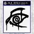 Crimson King Decal Sticker Stephen King Black Vinyl Logo Emblem 120x120