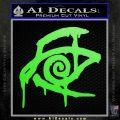 Crimson King Decal Sticker Stephen King Lime Green Vinyl 120x120