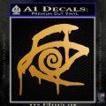 Crimson King Decal Sticker Stephen King Metallic Gold Vinyl 120x120