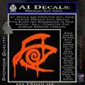 Crimson King Decal Sticker Stephen King Orange Vinyl Emblem 120x120
